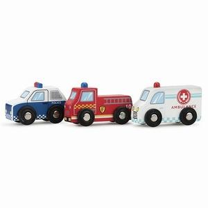 Auto set 3 stuks (Politie, Brandweer en Ziekenauto)