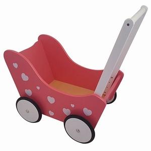 Poppenwagen met Hartjes Roze, exclusief dekje