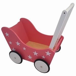 Poppenwagen met Sterretjes Roze, exclusief dekje