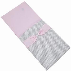 Poppenwagen Dekje Elegance Grijs/Roze, uitverkocht