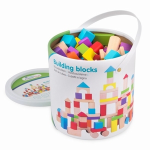 Bouwblokken in Ton - Gekleurd 100 stuks - New Classic Toys