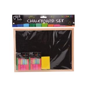 Schoolbordje / Krijtbordje Creakids, incl. gekleurd krijt