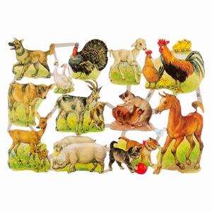 Poëzieplaatje (10st) Boerderij dieren