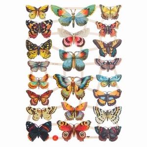 Poëzieplaatje (10st) Vlinders