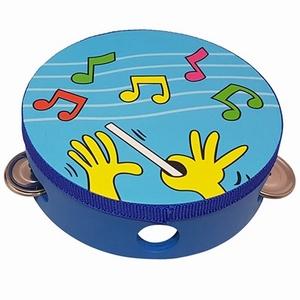 Tamboerijn - Muzieknoten blauw