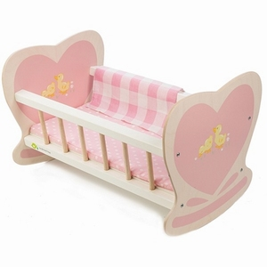 Poppenbed schommel roze sweetiepie - Tenderleaftoys 8101