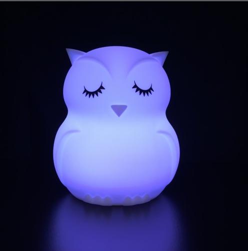 Nachtlamp Siliconen Uil - Klein, uitverkocht