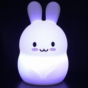 Nachtlamp Siliconen Konijn - Groot