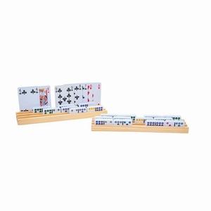 Domino en kaarthouder 26x6 cm prijs v. 4 stuks ! uitverkocht