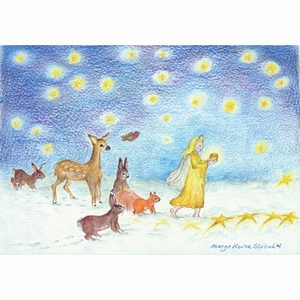 Ansichtkaart 1.57 Kerstlicht - 10 stuks