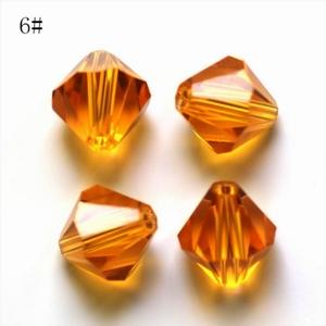 Swarovski Beads 8 mm Bicone Topaz zakje 100 stuks