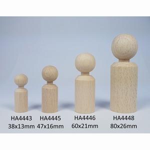Kegelpoppetje - Recht 60x21 mm met nekje