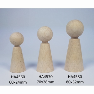 Kegelpoppetje - Taps 60x24 mm met nekje