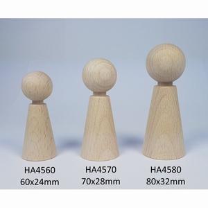 Kegelpoppetje - Taps 70x28 mm met nekje