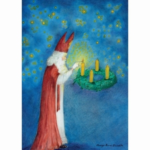 Ansichtkaart 1.76 Sint Nicolaas Lichtbrenger - 10 stuks
