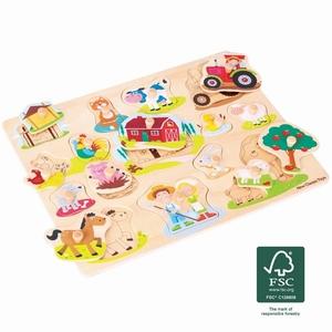 Puzzel - Boerderij - 16 stukken - groot - New Classic Toys