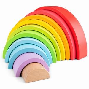 Regenboog blokken - 10 bogen - 100% fsc - New Classic Toys
