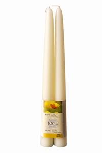 Dipam bijenwaskaars 2,2 x 30 cm 14h wit per 6 paar
