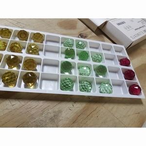 Kristal/Facet-bol 20mm Kleur, Topaz, licht groen, d.rood
