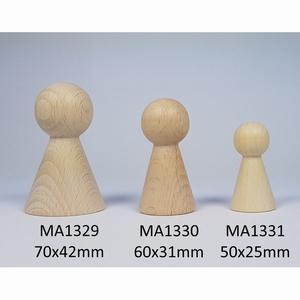Kegelpoppetje - Breed 60x31 mm