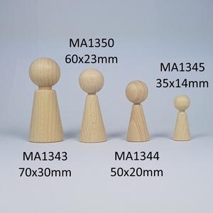 Kegelpoppetje - Taps 70x30 mm met nekje