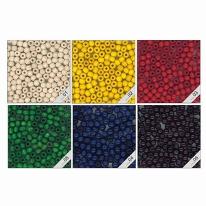 Kraal 06 mm gekleurd - zakje 108 stuks