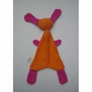 zBadstof Doggy kleur Oranje/Roze (21x36cm)
