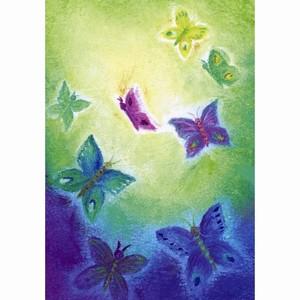 Oliepastelkaart De Vlinders per 10 stuks