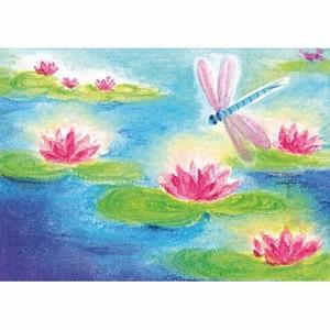 Oliepastelkaart De Libel (Waterlelies) per 10 stuks