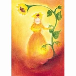 Oliepastelkaart Het Zonnebloemvrouwtje per 10 stuks