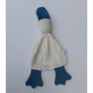 xBadstof Eend Ecru / D. Blauw met gekleurde snavel en voetj