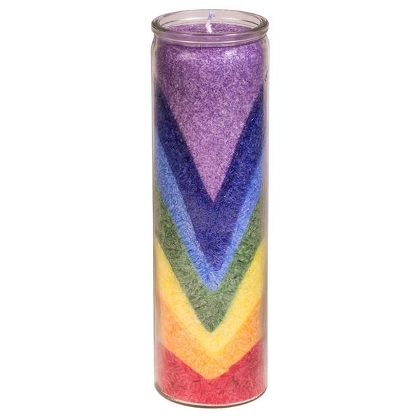 Kaars: Regenboogvallei stearinekaars geurkaars in glas