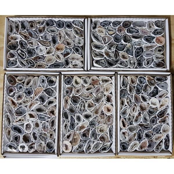 Agaatgeodes in doosje (ca 42 brokjes)