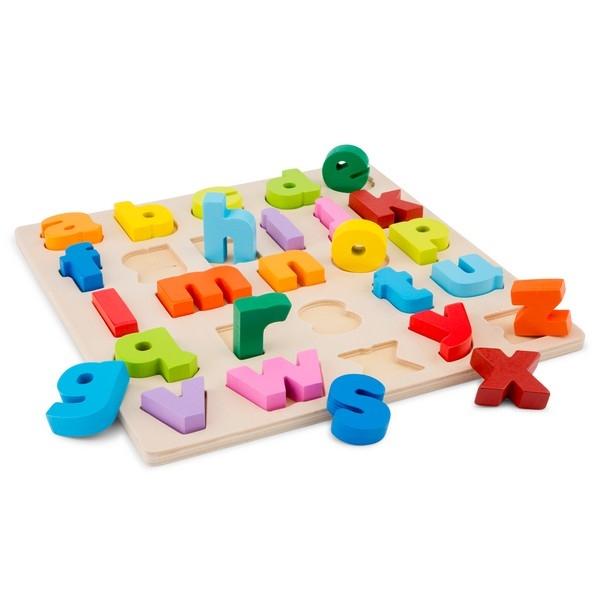 Alfabet puzzel kleine letters - grote stukken