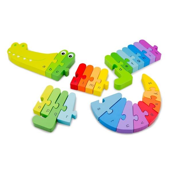 Alfabet puzzel krokodil