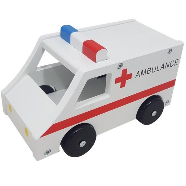 Ambulance groot met zwarte wielen, uitverkocht