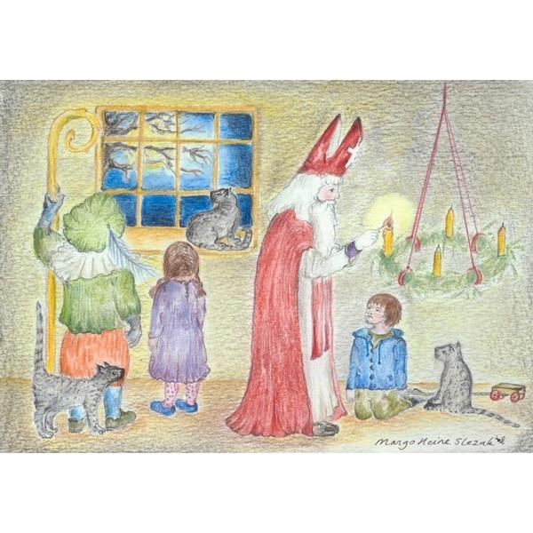 Ansichtkaart 1.55 Sint Nicolaas steekt de , uitverkocht