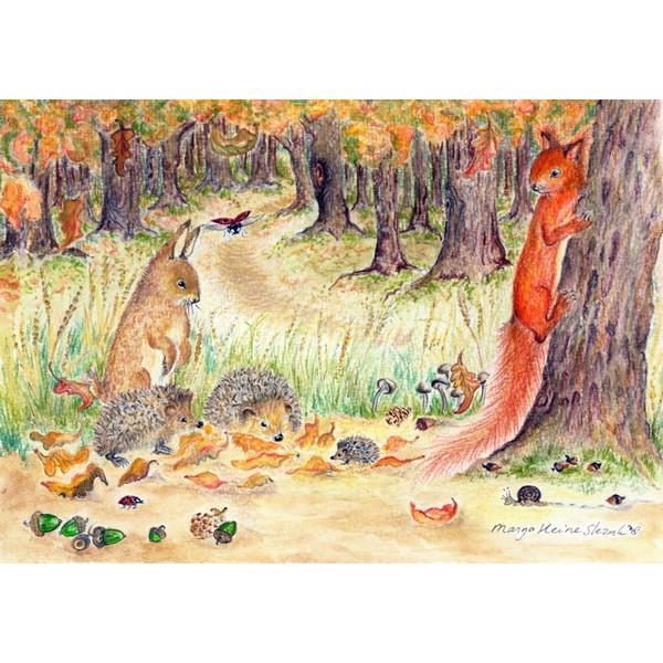 Ansichtkaart 1.71 Herfst Geluk - 10 stuks