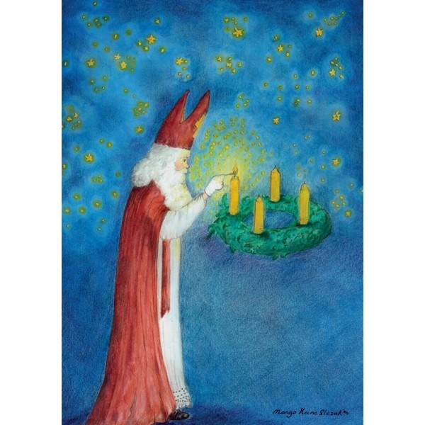Ansichtkaart 1.76 Sint Nicolaas Lichtbrenger, uitverkocht !