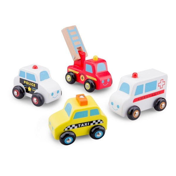 Auto set 4 stuks   (Politie, Ambulance, Brandweer, Taxi)