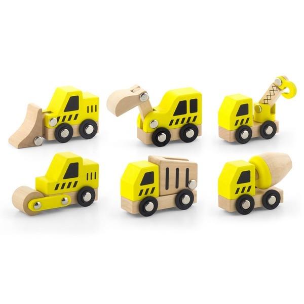 Auto set 6 stuks (Bouwvoertuigen) Viga Toys