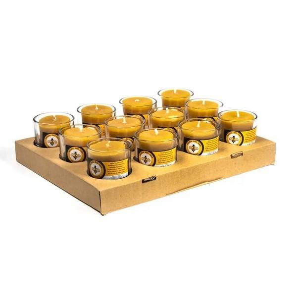 Bijenwaskaars Votief uit Oost Java - 4,5 x 4 cm