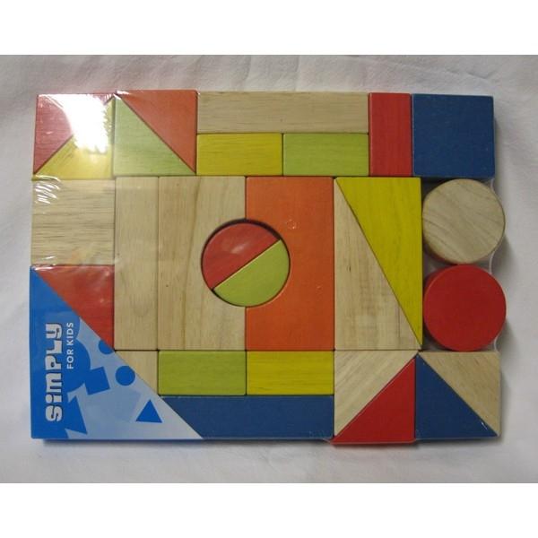 Blokkenset gekleurd 29-delig (27,5x20x2,5cm)