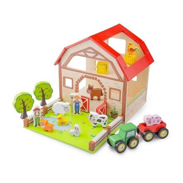 Boerderij Speelset van Hout - New Classic Toys