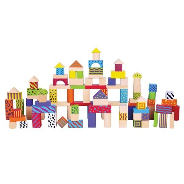 Bouwblokken in Ton - Fantasie 100 stuks - New Classic Toys