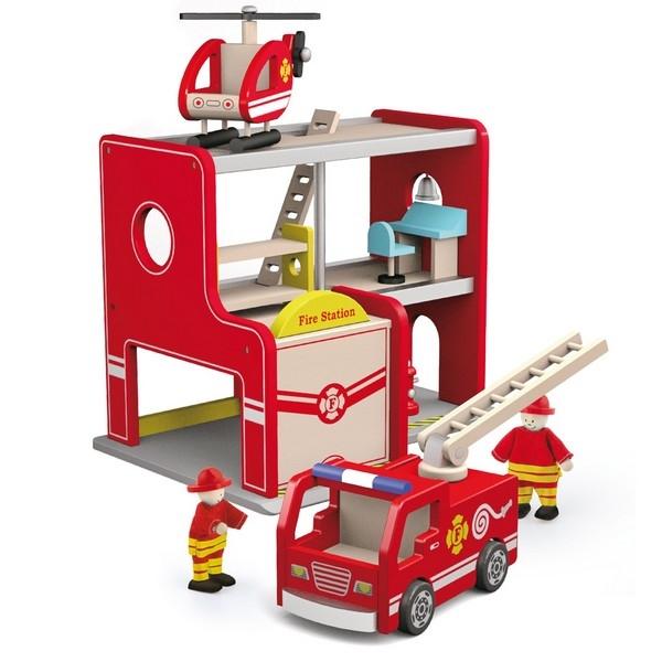 Brandweerkazerne - Viga Toys