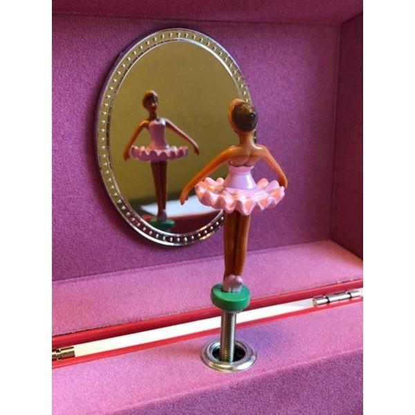 Byouxmuziekdoos Ballerina vol met Hartjes