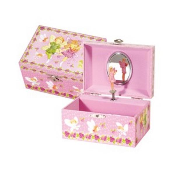 """Byouxmuziekdoos Roze Ballerina """"bloemen"""" (32180)"""