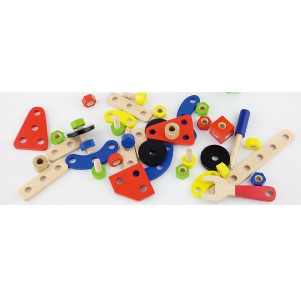 Constructie Bouwset - 68 delig - Viga Toys, nog 1x