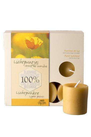 Dipam bijenwas 9 sfeerlichtjes 8 h per 5 stuks